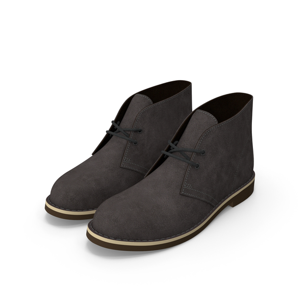 Suede Chukka Boots Gray PNG & PSD Images