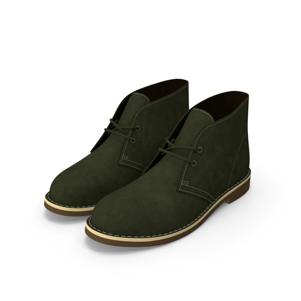 Suede Chukka Boots Green PNG & PSD Images
