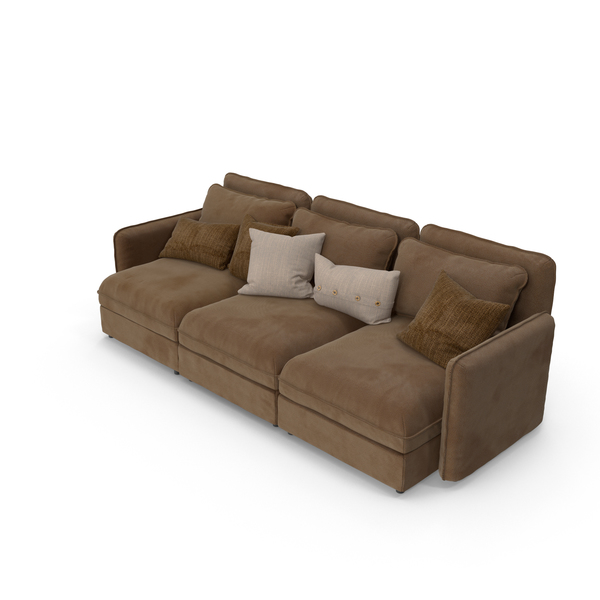 Suede Sofa PNG & PSD Images
