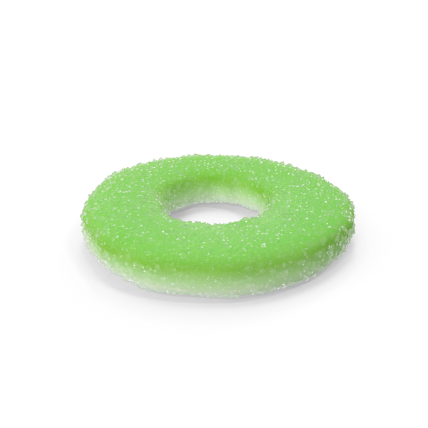 Sugar Coated Gummy Ring Apple PNG & PSD Images