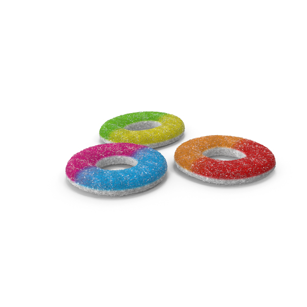 Sugar Gummy Rings PNG & PSD Images