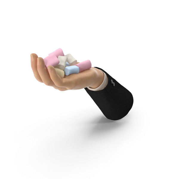 Suit Hand Handful with Marshmallows PNG & PSD Images