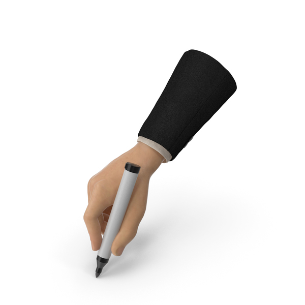 Game: Suit Hand Holding a Black Marker Pen PNG & PSD Images