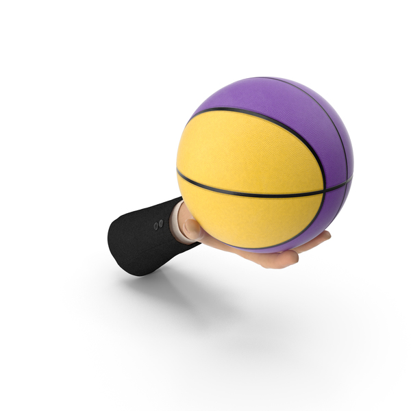Suit Hand Holding a Colored Basketball Ball PNG & PSD Images