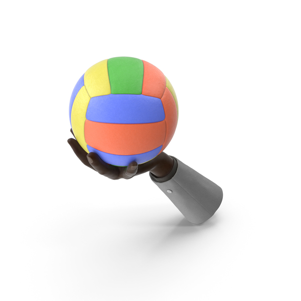 Suit Hand Holding a Colored Volleyball PNG & PSD Images