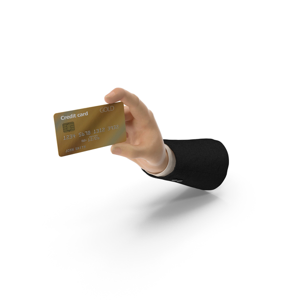 Suit Hand Holding a Credit Card PNG & PSD Images