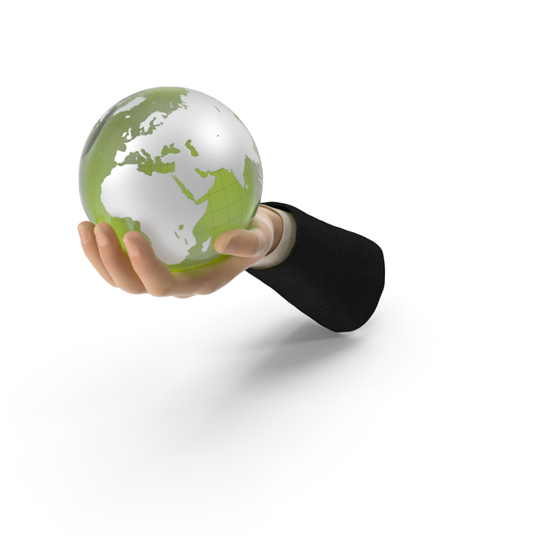 Suit Hand Holding a Green Earth PNG & PSD Images