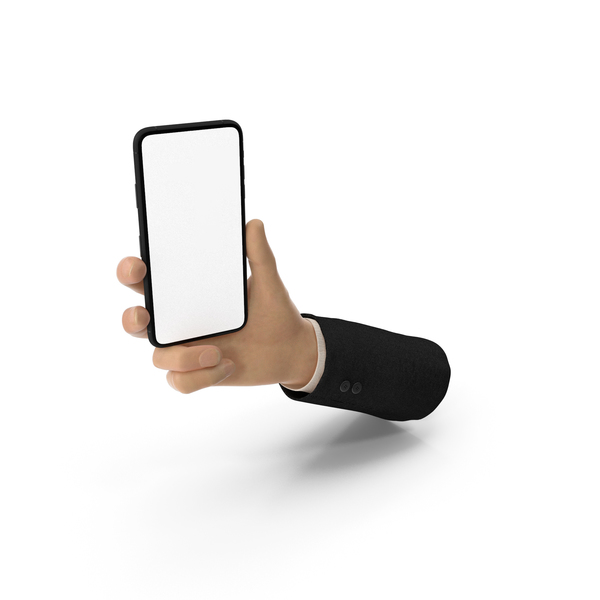 Suit Hand Holding a Smartphone Mockup PNG & PSD Images