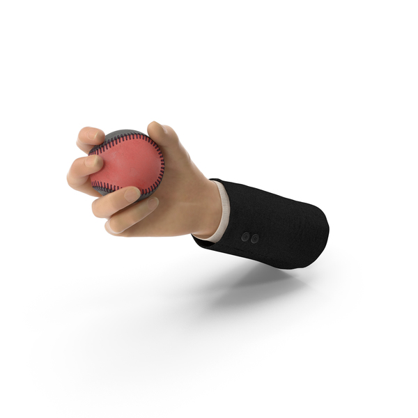 Suit Hand Holding a Special Baseball Ball PNG & PSD Images