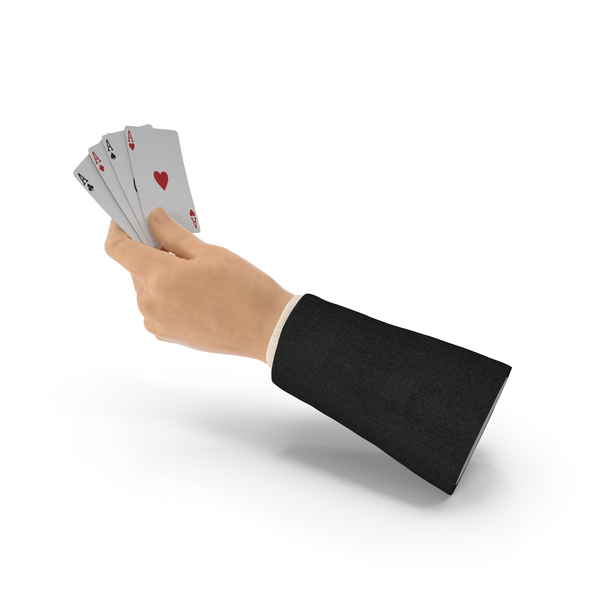 Playing Cards: Suit Hand Holding Aces PNG & PSD Images