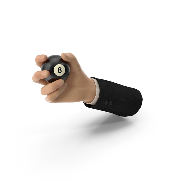 Suit Hand Holding an 8 Ball PNG & PSD Images