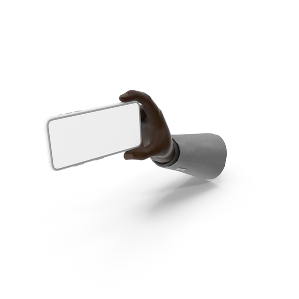 Smartphone: Suit Hand Holding Phone Landscape PNG & PSD Images