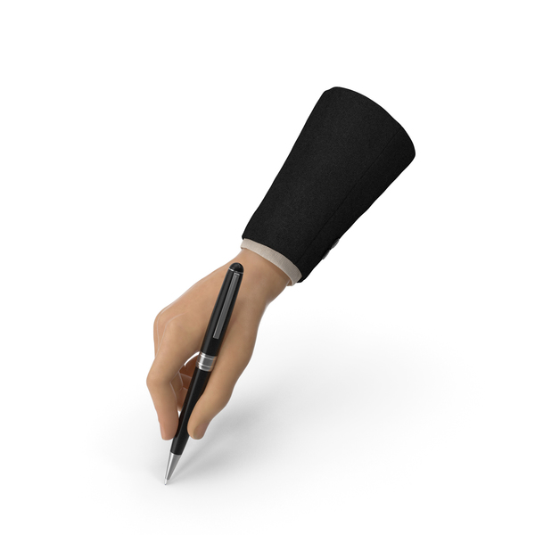 Suit Hand Signing with a Fancy Pen PNG & PSD Images