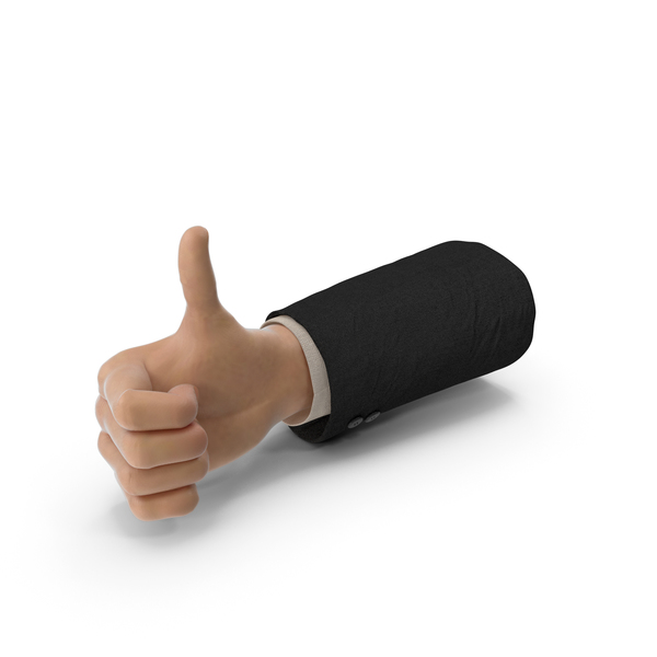 Suit Hand White Thumb Up PNG & PSD Images