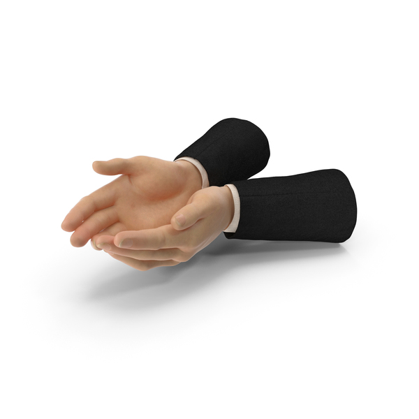 Suit Two Hands Handful Pose PNG & PSD Images