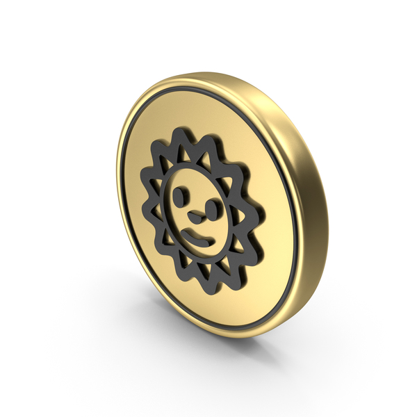 Sun Smile face coin Logo Icon PNG & PSD Images