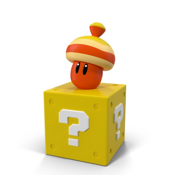 Super Mario Acorn Block Figure PNG & PSD Images
