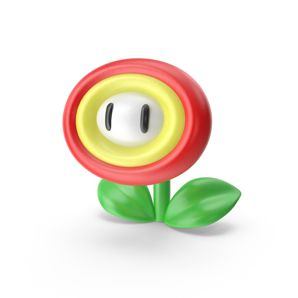 Cartoon: Super Mario Fire Flower PNG & PSD Images