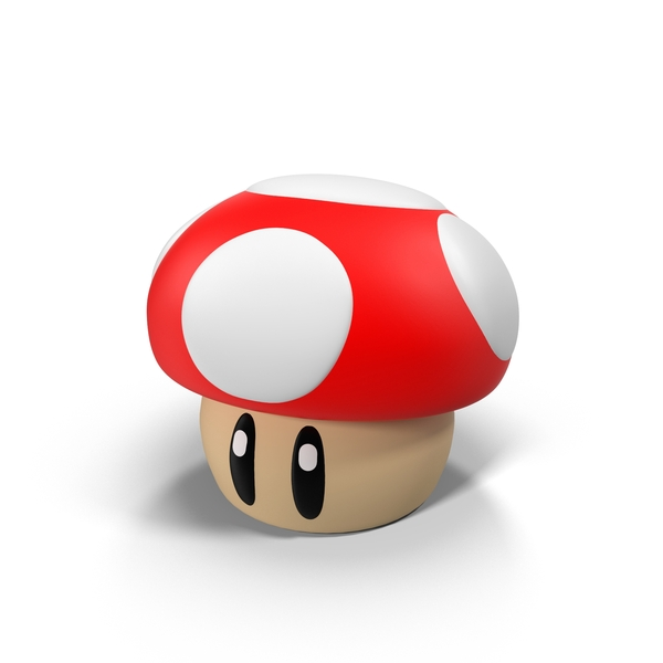 Action: Super Mario Mushroom Figure PNG & PSD Images