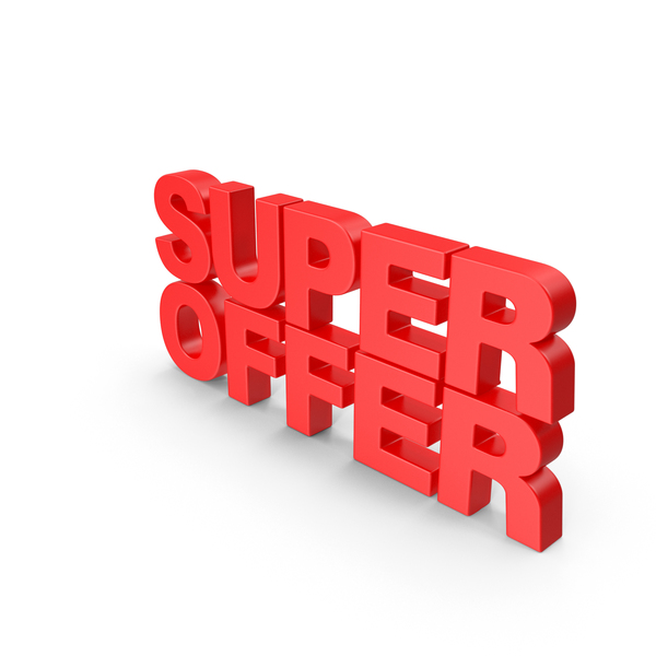 Super Offer 3D Text PNG & PSD Images