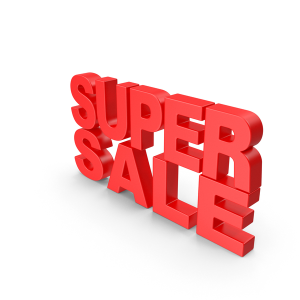 For Sign: Super Sale Text PNG & PSD Images