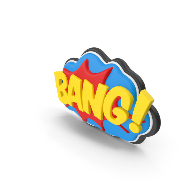 Superhero Comic Text Bubble BANG! PNG & PSD Images