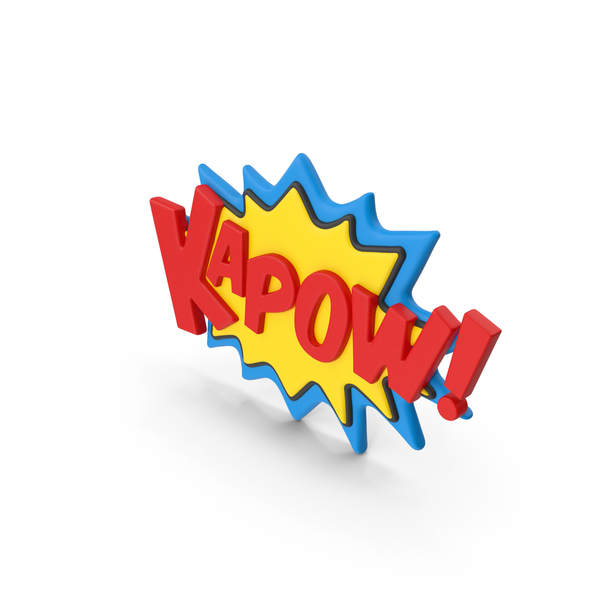 Superhero Comic Text Bubble KAPOW! PNG & PSD Images