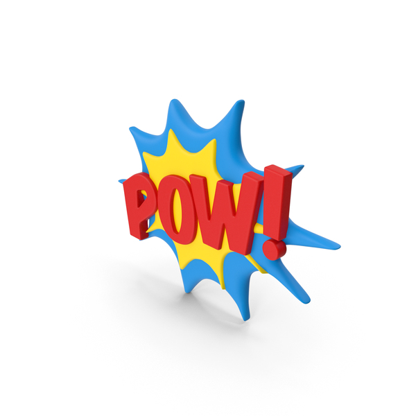 Superhero Comic Text Bubble POW! PNG & PSD Images
