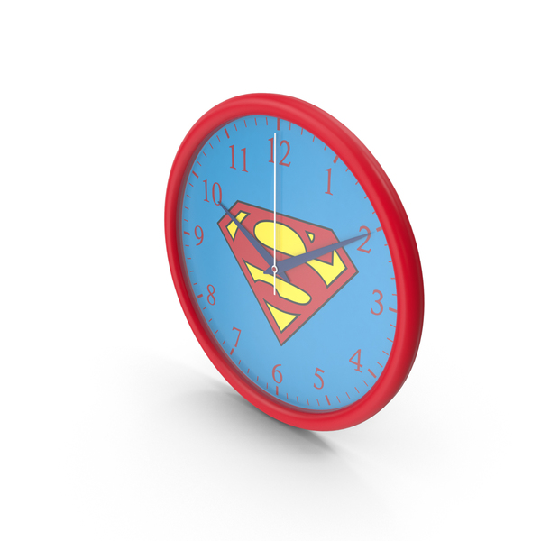 Superman Wall Clock PNG & PSD Images