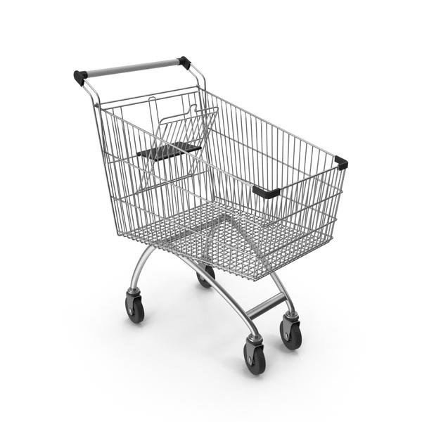 Supermarket Сart With Black Plastic PNG & PSD Images