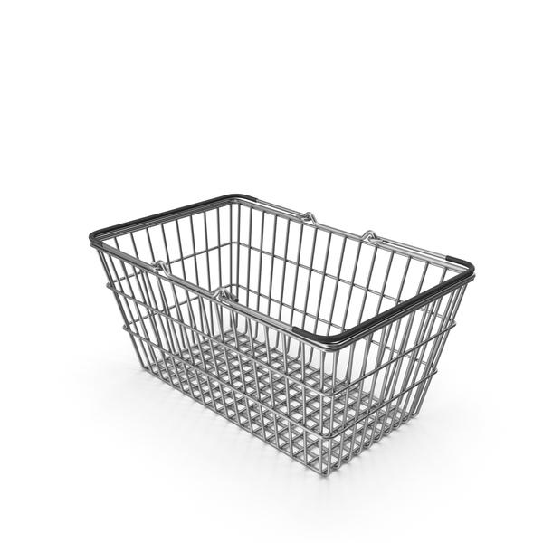 Shopping: Supermarket Basket with Black Plastic PNG & PSD Images