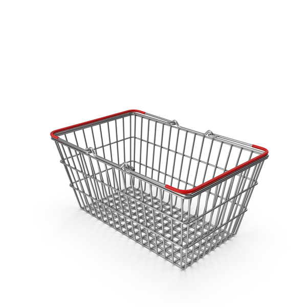Supermarket Basket with Red Plastic PNG & PSD Images