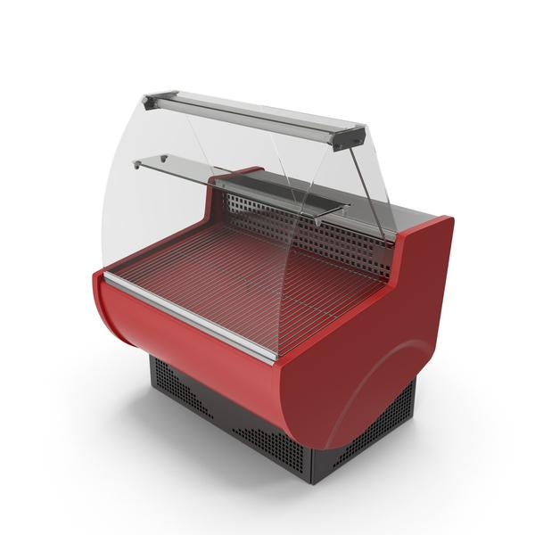 Refrigerator: Supermarket Meat Curved Display PNG & PSD Images
