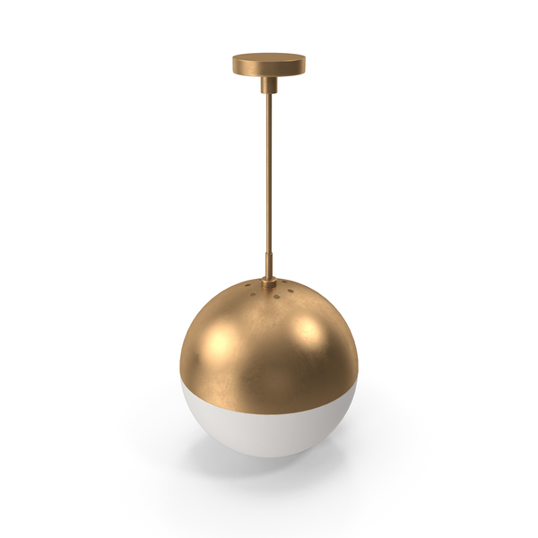 Suspended Lamp Copper Light Pendant Orb PNG & PSD Images