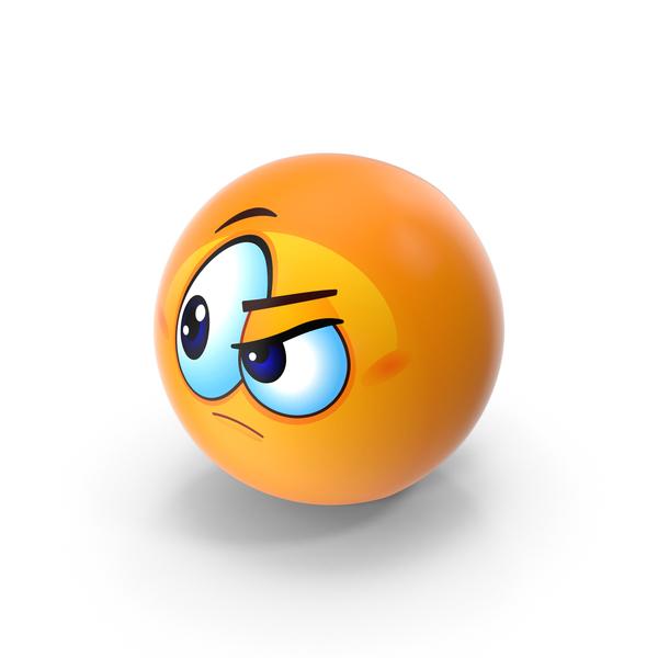 Suspicious Emoji PNG & PSD Images