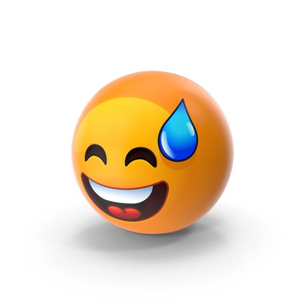 Sweat Smile Emoji PNG & PSD Images