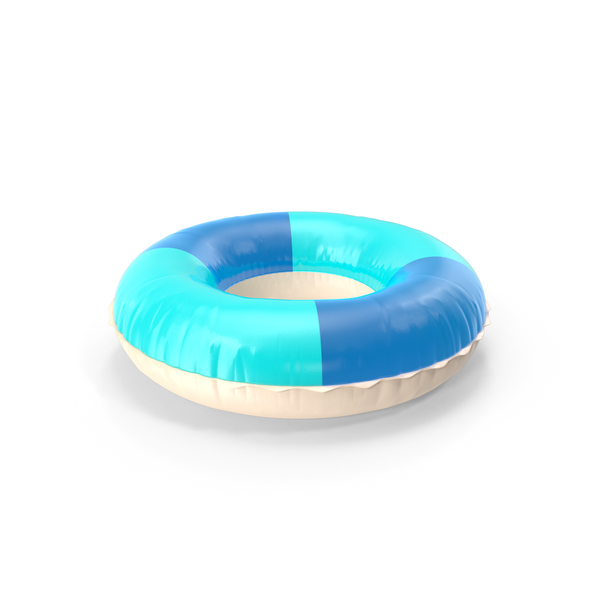 Pool Toy: Swim Ring Blue PNG & PSD Images