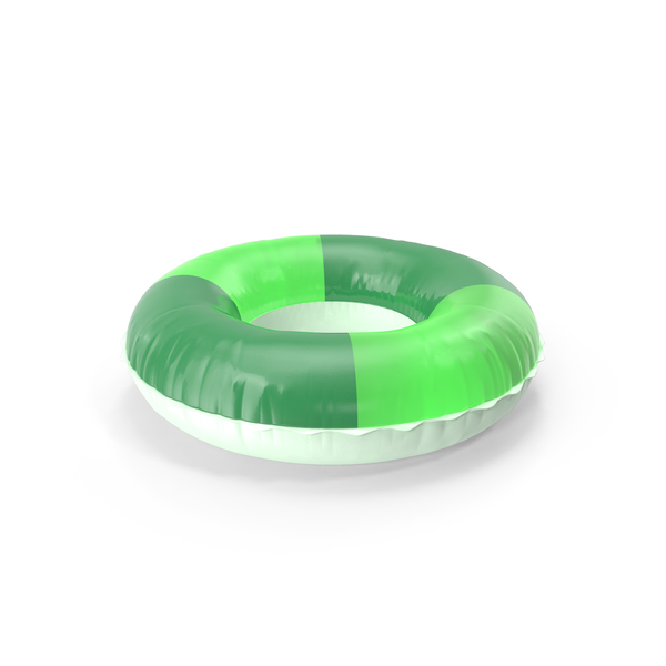 Pool Toy: Swim Ring Green PNG & PSD Images