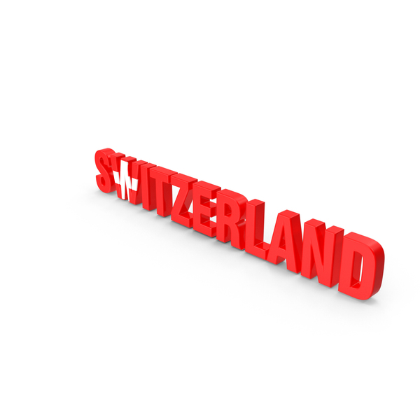 Switzerland Text PNG & PSD Images