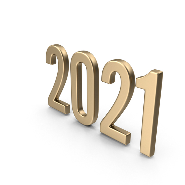 Number: Symbol 2021 Gold PNG & PSD Images