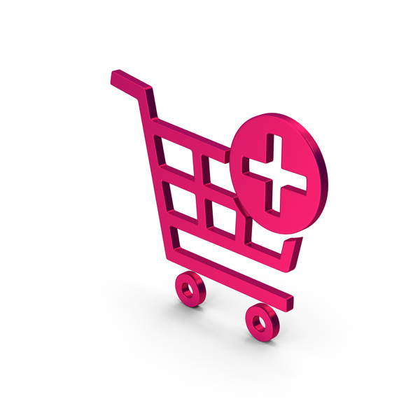 Symbol Add To Shopping Cart Metallic PNG & PSD Images