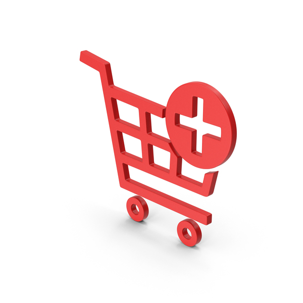 Symbol Add To Shopping Cart Red PNG & PSD Images