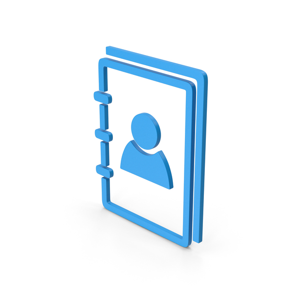 Computer Icon: Symbol Address Book Blue PNG & PSD Images