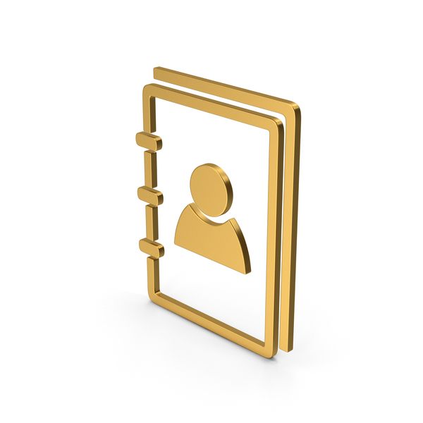 Computer Icon: Symbol Address Book Gold PNG & PSD Images