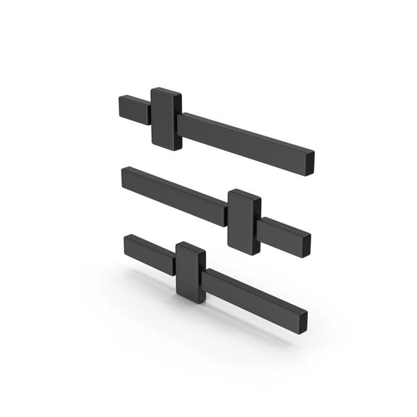 Computer Icon: Symbol Adjustments Black PNG & PSD Images