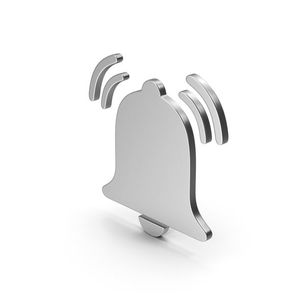 Logo: Symbol Alarm Bell Ring Silver PNG & PSD Images
