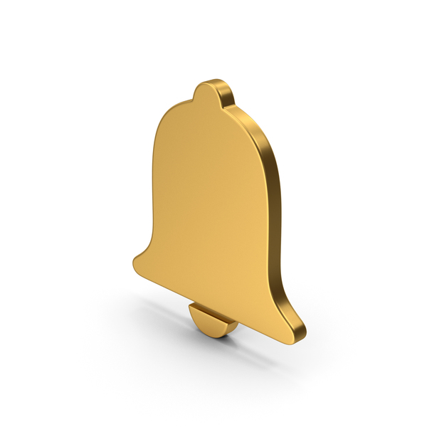 Computer Icon: Symbol Alarm / Notification Gold PNG & PSD Images