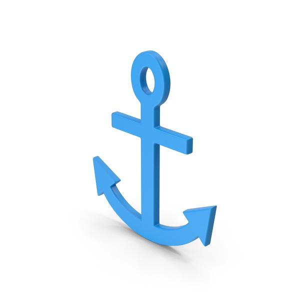 Symbol Anchor Blue PNG & PSD Images