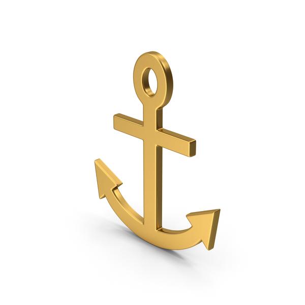 Symbol Anchor Gold PNG & PSD Images