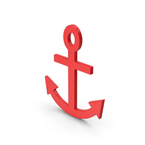 Symbol Anchor Red PNG & PSD Images